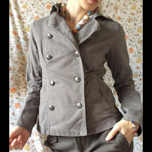 GAP Jackets & Blazers - GAP Double Breast Military Grey Structure Jacket